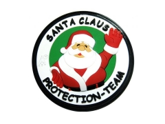 Santa Claus Protection Team 3D Rubber Patch